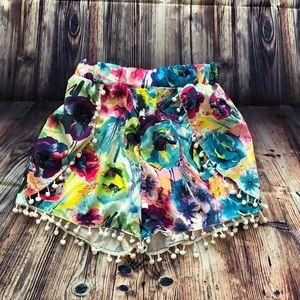 Pants - Floral Flowy Shorts